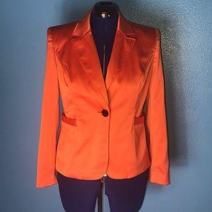Grace Elements 10 sateen orange shine blazer